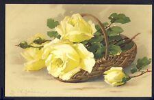 POSTKARTE Meissner & Buch Illustration Litho C. KLEIN ROSENZAUBER ROSES JAUNES