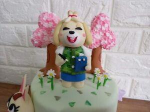 Animal crossing Isabelle cake topper decoration set