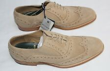 Best of British Barker for M&S Suede Leather Lace Up Welted Brogue Shoes Size 10