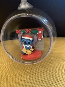 Primark Disney Lilo And Stitch Christmas Tree Hanging Bauble Decoration New