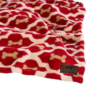 "Tall Tails PREMIUM DOG BLANKET Fleece Throw 40"" x 60"" RED BONE"