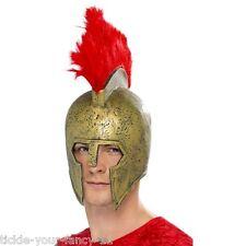 Mens Unisex Perseus Gladiator Helmet Fancy Dress Roman Warrior Accessory Hat Fun