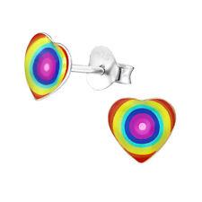 Silver Stud Earrings Grovey Heart Sterling