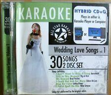 New ListingAll Star Karaoke : Karaoke: Wedding Songs, Vol. 1 Karaoke 2 Discs Cd