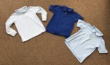 Lot of 3 Boys Polo Uniform Shirts Blue Size 6-7
