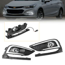 LED DRL Daytime Running Lights Fog light Lamps Fit Chevrolet Cruze 2016 2017 Car