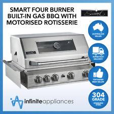 Smart 4 Burner Built-In Stainless Steel BBQ With Motorised Rotisserie