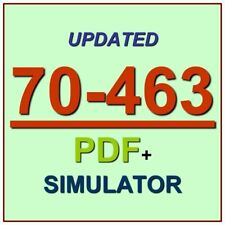 Latest 70-463 Verified Practice Test 463 Exam QA PDF+Simulator