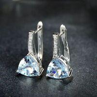 Women Earrings 1 Pair Bright Chain Elegant Fashion Ear Stud Rhinestone Crystal