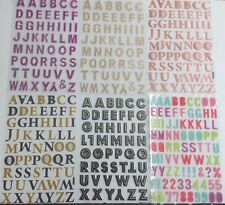 ALPHABET CAPITAL LETTERS STICKERS SELF ADHESIVE Pink Silver Red gold 2cm