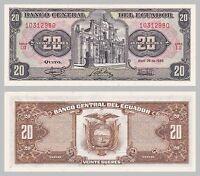 Ecuador 20 Sucres 1986 p121Aa unz.