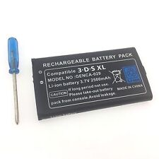 New Battery Replacement + Tool For Nintendo 3DS XL 2500mAh 3.7V Rechargeable