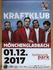 KRAFTCLUB  2017 MÖNCHENGLADBACH + orig.Concert Poster -- Konzert Plakat NEU A1