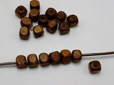 500 pcs Coffee Cube Wood Beads Wooden Beads Spacer 6X6mm