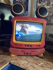 VTG Disney  Mickey Mouse Color T.V. Television W/ DVD player