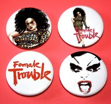 Set Of 4 John Waters Divine Female Trouble Bad Taste Film Button Pin Bagdes