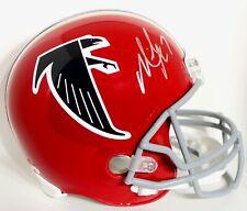Michael Vick Signed Atlanta Falcons Full Size Helmet JSA Witnessed
