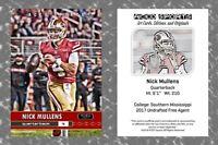 2018 Nick Mullens NEW! Art Cards Editions & Originals Football Card - 49ers QB