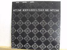 """★★ 12"""" Maxi - MTUME - Body & Soul (Take Me) 5:35 min - Epic 1986"""
