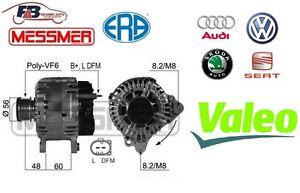 ALTERNATORE AUDI A1 / A3 - VW GOLF / PASSAT - SEAT LEON ORIGINALE VALEO - 210469