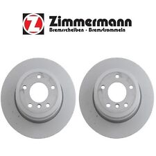 For BMW 135i 2008-2013 Pair Set of 2 Rear Disc Brake Rotors Zimmermann 150346420