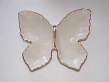 Lenox Butterfly Collection Divided Dish - Trimmed With Gold