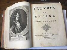 OEUVRES DE RACINE édition de Londres 1723, complet en 2 volumes