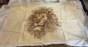 Vintage Bibb Company Room Concepts Pillow Case Lion Print