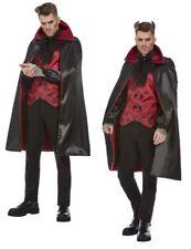 Devil Costume Mens Halloween Vampire Devil Fancy Dress Costume + Horns