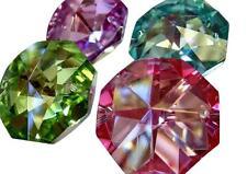 4 Octagon Chandelier Wedding Crystal 30mm Prism Suncatcher Pink Green Aqua Lilac
