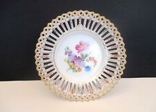 Dresden Carl Thieme Reticulated Porcelain Footed Bowl, Germany
