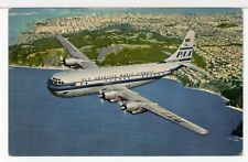 """Pan American World Airways """"Strato Clipper"""" 1940s-1950s Aircraft Postcard"""