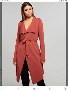 Portmans Milano  Knit Waterfall Long Line Cardigan Size M RRP $129.95 Nwot