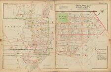 1906 ELIZABETH LINDEN UNION NEW JERSEY NORTH PARK NORTH AV-VIRGINIA ST ATLAS MAP