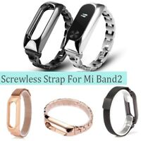 For Mi Band 2 Metal Wrist Smart Bracelet StainlessSteel Watch Band-Strap-