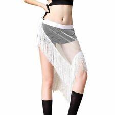 Dance Wear Belly Clothing Costume Asymmetrical Wrap Sequin Belt Hip Scarf Fringe