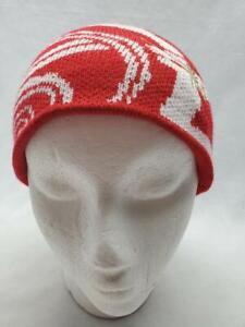 Spyder Kids Bitsy Swirl Beanie Hat Red White NEW