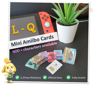 🌱 Mini Animal Crossing New Horizons Amiibo Card Nintendo Wii U 3DS Switch | L-Q