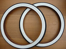 20x1.75 Pair RALEIGH White Wall Retro Bike Cycle Tyres Old school BMX NEW Street