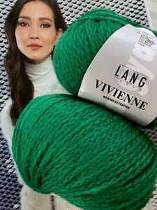 700 g Vivienne Lang Yarns Wolle Lana Merino TREND Grün Gras Wald Smaragd Natur