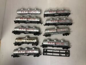 C131-  Mixed Lot Of HO Scale Crown Tank Car Parts