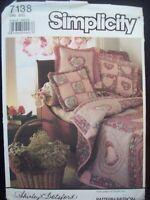 Simplicity Pattern 7138 Throw Pillows, Heart Pillows Shirley Botsford 1990s NOS
