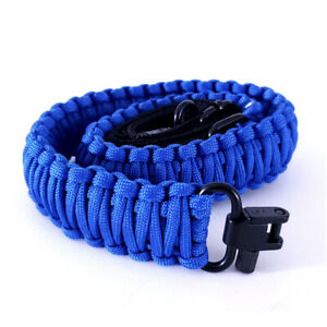 Sirius Survival 2 Point Gun Sling 550 Paracord, Adjustable with Swivel