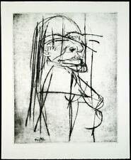 DDR-ARTE/atto, 1987. AQUATINTA di Wolfgang feature Lehmann (* 1950 d), firmato a mano