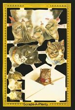 Mamelok English Scrap Die Cut - Sending Kitty Cats (Archives Collection)  A125