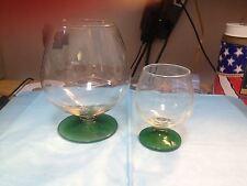 BRANDY SNIFTER & MATCHING CORDIAL GLASS---------------------------------------dc
