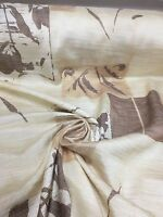 BEAUTIFUL BROWN FLORAL SUMMER PRINT CURTAIN FABRIC 6 METRES