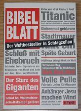 Bibelblatt von Nick Page * Bibel * Heyne 2002