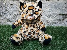 """NEW ~ 9"""" TOPSHOP TOP SHOP SOFT CUDDLY LEOPARD KITTEN CAT HOTTIE WITH WHEAT BAG"""