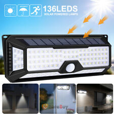 136 Led Solar Power Motion Sensor Light Outdoor Garden Wall Lamp Super Bright